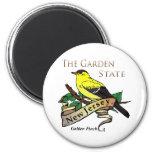 Pinzón de oro del estado jardín de New Jersey Imán