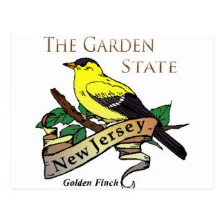 Pinzón de oro del estado jardín de New Jersey Tarjeta Postal