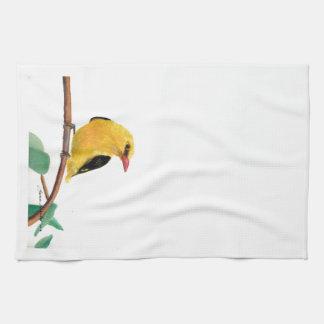 Pinzón del oro toallas de mano