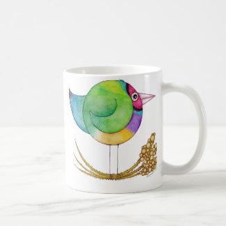 Pinzón Mug* de Gouldian Taza Básica Blanca