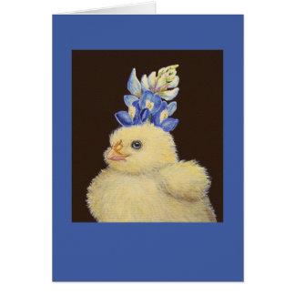 pío con la tarjeta del gorra del bluebonnet de Tej