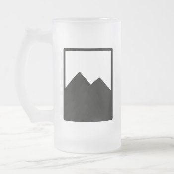 Pioc_flask Frosted Glass Beer Mug by CREATIVEWEDDING at Zazzle