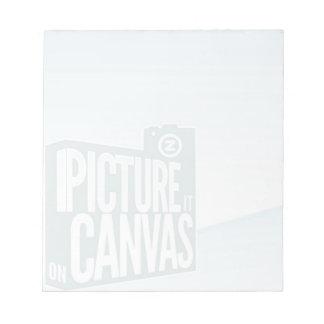 PIOC note pad with Zazzle logo