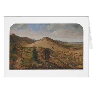 Pioche, el condado de Lincoln, Nevada (1186) Felicitacion