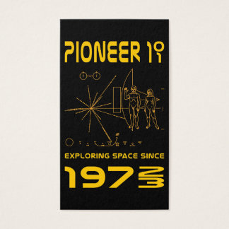 Pioneer 10 & 11 | Space 1972 & 1973 | gold Business Card