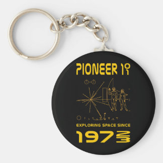 Pioneer 10 & 11 | Space 1972 & 1973 | gold Keychain