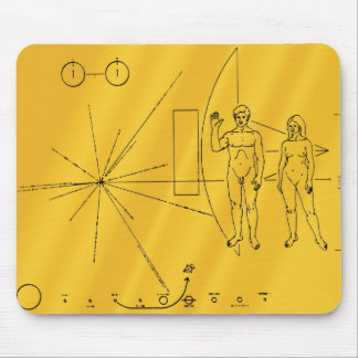 Pioneer 10 Gold Plaque Mouse Pad