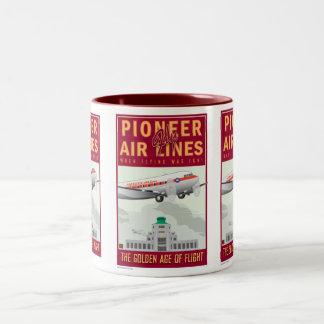 Pioneer Air Lines-Mug Two-Tone Coffee Mug