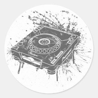 Pioneer CDJ-1000 Graffiti Classic Round Sticker