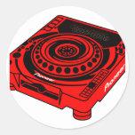 Pioneer CDJ 1000 Round Sticker