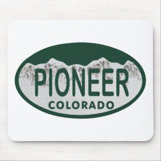 Pioneer Colorado license oval Mouse Pad