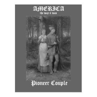 Pioneer Couple Postcard