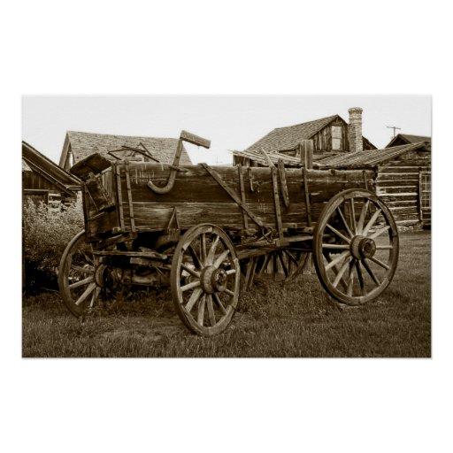 Pioneer Freight Wagon Nevada City Ghost Town Posters