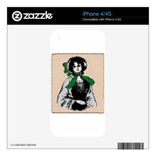 Pioneer Lady iPhone 4 Decal