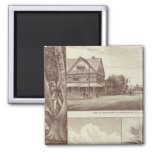 Pioneer Land Co tract, Porterville 2 Inch Square Magnet