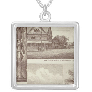 Pioneer Land Co tract, Porterville Square Pendant Necklace