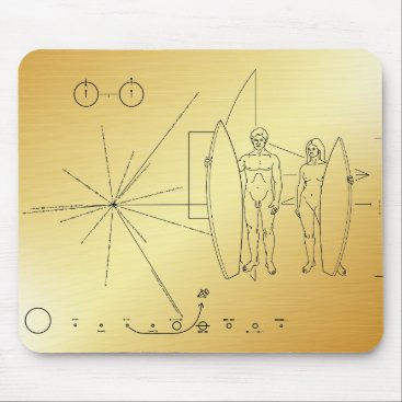 Beach Themed Pioneer plaque Surfer Mouse Pad