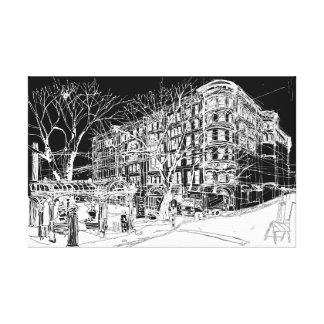 Pioneer Square, Seattle. Night Sky. Canvas Print