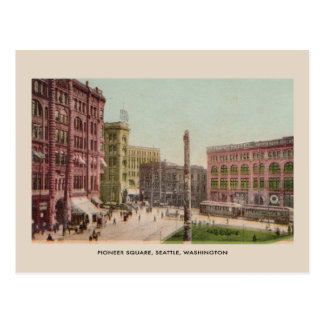 Pioneer Square, Seattle vintage Postcard