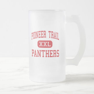 Pioneer Trail - Panthers - Junior - Olathe Kansas Frosted Glass Beer Mug
