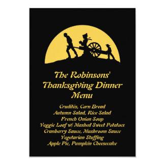 Pioneer Trek Silhouette Thanksgiving Dinner Menu Card