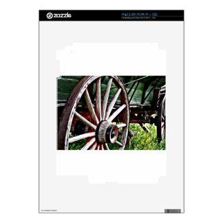 Pioneer Wagon Wheel Decals For iPad 2