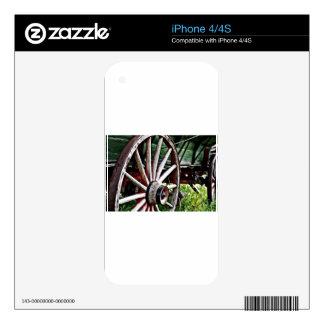 Pioneer Wagon Wheel iPhone 4 Skin