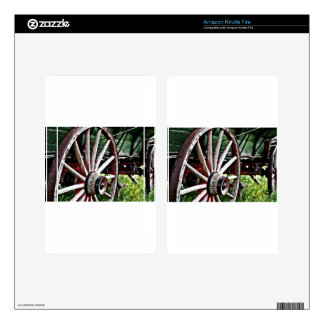 Pioneer Wagon Wheel Kindle Fire Skins