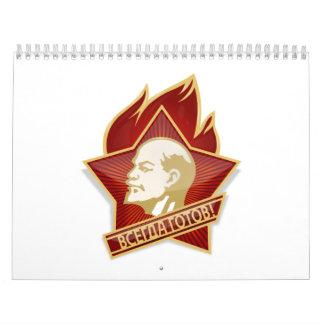 Pioneers Organization Vladimir Lenin Socialist Wall Calendar