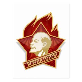 Pioneers Organization Vladimir Lenin Socialist Postcard