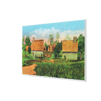 Pioneers' Village Scene in Forest River Park # 2 Canvas Print