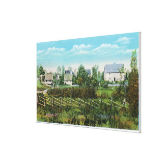 Pioneers' Village Scene in Forest River Park # Canvas Print