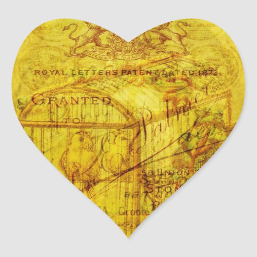 Píos de oro pegatina de corazon personalizadas