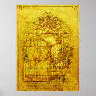 Píos de oro póster