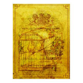 Píos de oro tarjetas postales