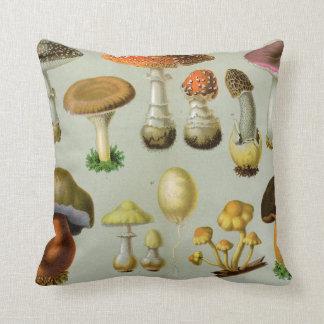 Piosonous Fungi - Mushrooms and Toadstools Throw Pillow