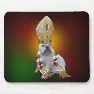 Pious bulldog mousepad