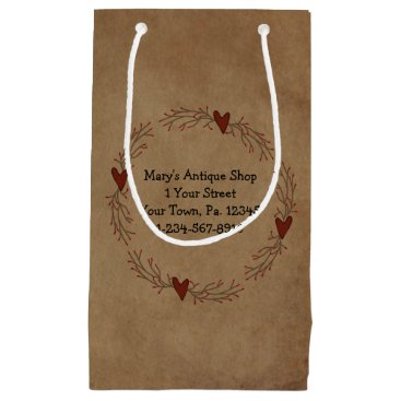 Professional Business Pip Berry Heart Circle Gift Bag