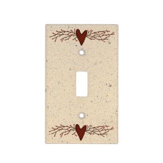 Pip Berry Heart Light Switch Cover