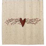 Pip Berry Heart Shower Curtain