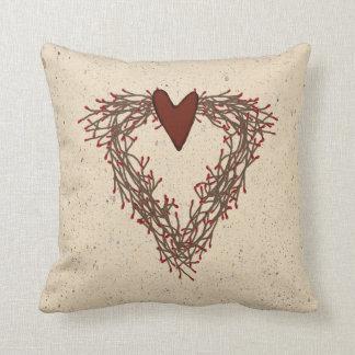 Pip Berry Heart Wreath Pillow