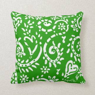 Pip pillow in green and navy