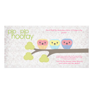 Pip Pip Hooray Backing Card for Hand Made Product Photo Card