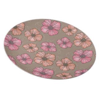 Pip Pip Hooray Paint + Ink Flower Pattern Dinner Plate