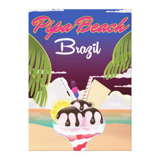 Pipa Beach Brazil Vacation poster Canvas Print