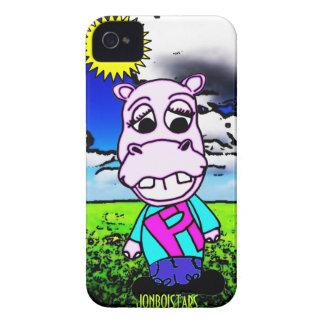 pipa-ho el hipopótamo funda para iPhone 4 de Case-Mate