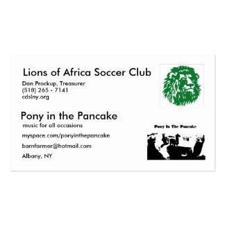 PIPA, leones de África Tarjetas De Visita