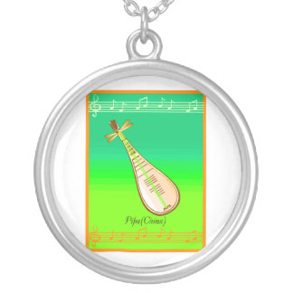 Pipa String Instrument From China Necklaces