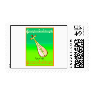 Pipa String Instrument From China Stamp