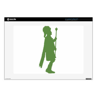 """Pipe Band Leader Silhouette 15"""" Laptop Skins"""